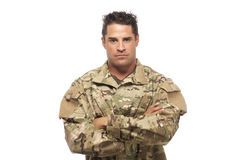 Serious Army Soldier Royalty Free Stock Image