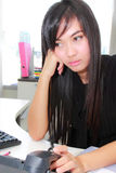 Serious asian business woman Stock Photography