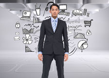 Serious asian businessman Royalty Free Stock Images
