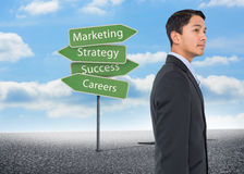 Serious asian businessman Stock Photography
