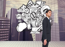 Serious asian businessman Stock Photo