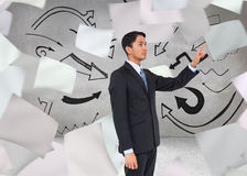 Serious asian businessman pointing Stock Photography