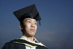 Serious asian graduate Royalty Free Stock Image