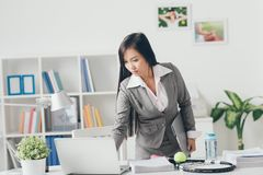 Serious Asian manager Stock Image