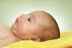 Serious baby Royalty Free Stock Image
