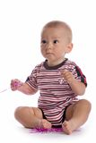 Serious baby Stock Image