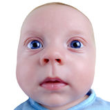 Serious baby Royalty Free Stock Images