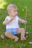 Serious Baby Boy Royalty Free Stock Images