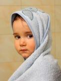 Serious baby boy portrait Stock Image