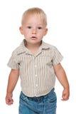 Serious baby boy Royalty Free Stock Photos