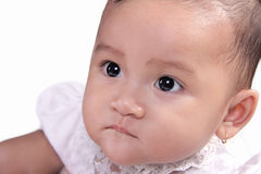 Serious baby face Royalty Free Stock Photos