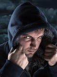 Hiding bandit Stock Photo