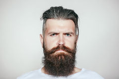 Serious bearded man Stock Photography