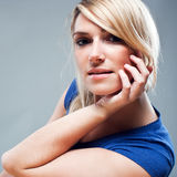 Serious beautiful blond woman Royalty Free Stock Photography