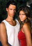 Serious beautiful couple Stock Photos