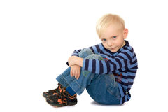 Serious blond boy Royalty Free Stock Images