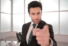 Serious boss pointing at you. The concept of responsibility royalty free stock image
