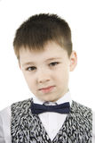 Serious Boy. Royalty Free Stock Photo