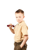 Serious boy Royalty Free Stock Image