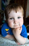 Serious boy. Posed kid Royalty Free Stock Photography