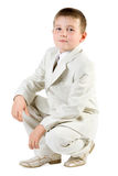 Serious boy like businessman Royalty Free Stock Photos