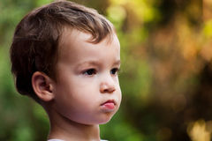 Serious boy portrait Royalty Free Stock Photography