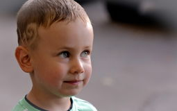 Serious boy. Royalty Free Stock Photo