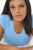 Serious brunette Stock Photo
