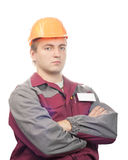 Serious builder Royalty Free Stock Photos