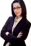Serious Business. Corporate headshot of female executive ready for business royalty free stock photos