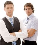 Serious Business. Two serious looking businessmen (shallow depth of field used Royalty Free Stock Images