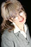 Serious business girl. With glasses Royalty Free Stock Photo