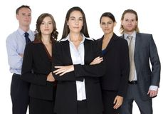 Serious Business Group Royalty Free Stock Photo