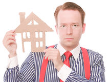 Serious business houseowner Stock Photos