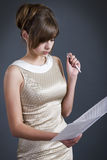 Serious business lady Royalty Free Stock Photography