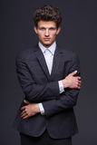 Serious business man Stock Photos