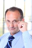 Serious business man with glasses Royalty Free Stock Photo
