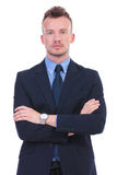 Serious business man with hands crossed Royalty Free Stock Photo