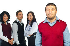 Serious business man and his team Stock Image