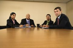 Serious business meeting. Stock Photo