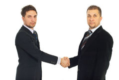 Serious business men handshake Royalty Free Stock Photography