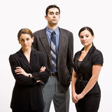 Serious business people. Portrait of three serious business people Royalty Free Stock Images