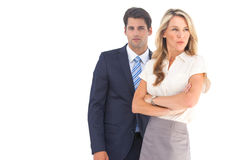 Serious business people looking away Royalty Free Stock Images