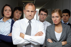 Serious business people Stock Image