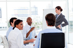Serious business people at a presentation Royalty Free Stock Photography