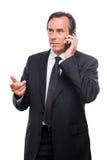 Serious business talk. Stock Image