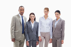 Serious business team side by side Royalty Free Stock Photography