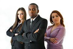 Serious Business Team. Serious but successful business team Royalty Free Stock Images