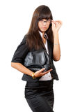 Serious business woman. Royalty Free Stock Photos