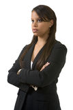 Serious business woman stock image